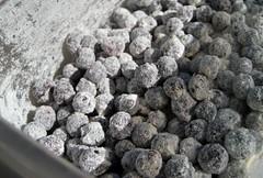 blueberry-okara muffins