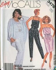 M3476 (sandritocat) Tags: vintage uncut dress or size jacket 80s strapless straps cocoon jumpsuit 68 mccalls 3476