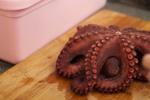 Octopus, poached