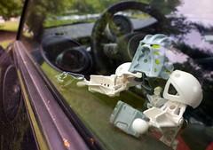 2010:214 (Steve VanSickle) Tags: window car robot lego cooper bionicle steeringwheel 2010yip