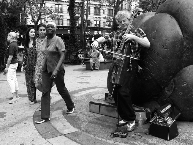 New-fangled Cellist, 72nd Street