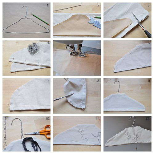 and yet another clothes hanger tutorial…