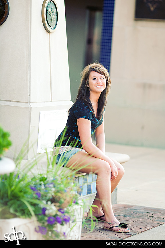 Kansas City senior photography, Country Club Plaza