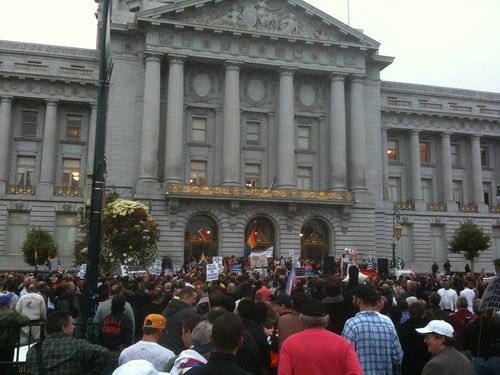 Prop 8 overturned! SF Civic Center rally