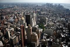 NYC from a bird's perspective. (Eva Schön) Tags: nyc newyork buildings view skyscrapers manhattan empirestatebuilding bigapple frombirdsperspective