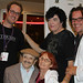 "Matt Sconce, actor Jerry Maren, who appeared in the Wizard of Oz, Randal Malone, & director Ford Austin at the screening of ""Dahmer vs Gacy"" at Action on Film Festival 2010."