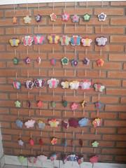 foi uma delcia (Dona Chiquinha) Tags: cortina mobile fuxico feltro borboletas galinhas cocoric tero anjinhos