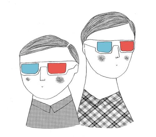 hombres 3D