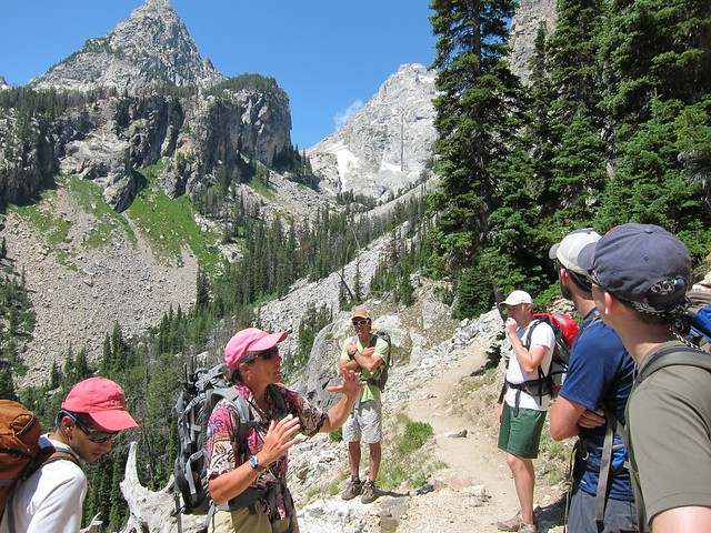 Lynn explaining the geology of the Teton range