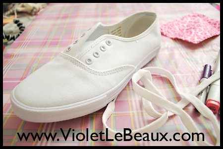 Diy White Sneaker Tutorial