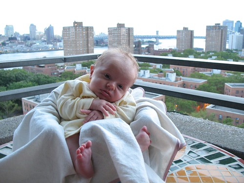 Baby with a view