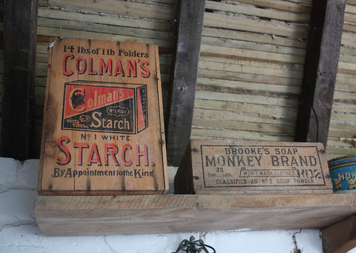Monkey soap and Colmans starch