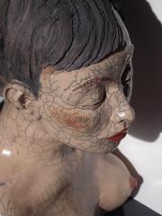 (Melanie Bourget) Tags: sculpture clay terre modelage raku buste