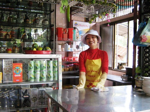 Friendly shopkeeper, Vinh, Nghe An