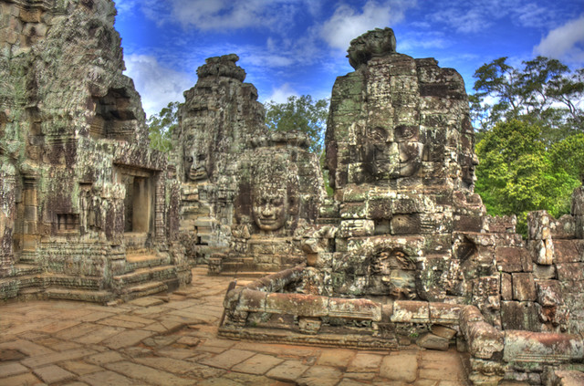 Angkor Wat Stone Faces HDR