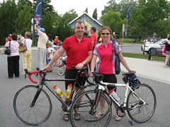 Dave and I after 187 km