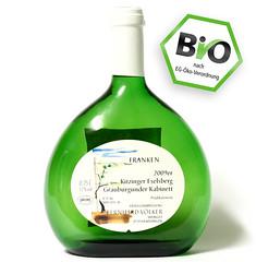 Bio-Gütesiegel auf Wein