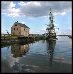 REFLECTIONS OF THE PAST (Camerist Obscured) Tags: reflections friendship massachusetts northshore salem tallship derbywharf eastindiaman canona630