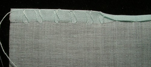 close up rolled hem
