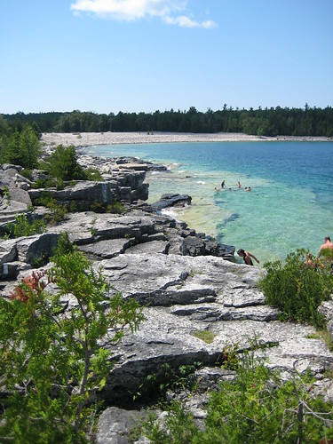 cobble beach on Bruce Trail, ON