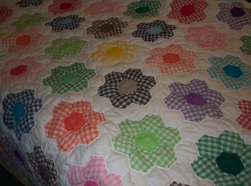 Patchwork Quilt, Handmedown No. 4, as a Coverlet