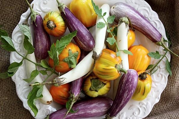 Raw Eggplant Plate