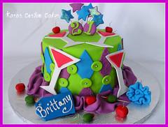 21st Birthday cake (Kara's Custom Cakes) Tags: pink blue green cake diamonds cherry stars purple 21 fabric olives martiniglass 21stbirthday nametags fondant ribbonroses diamondpattern 21stbirthdaycake fondantcherries gumpastemartiniglass fondantolives