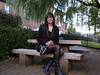 Picnic Table (Starrynowhere) Tags: black public tv kilt boots outdoor cd emma mini tights tgirl transvestite opaque pantyhose crossdresser starrynowhere 982010