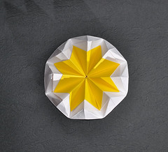Flower- cut Hard-boiled Egg (rebecccaravelry) Tags: origami kawasaki toshikazukawasaki