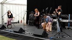 Flaming June (Andrew Stawarz) Tags: day2 music rock nikon live bands flamingjune adobelightroom stevecalder d700 2470mmf28gedafsnikkor cambridgerockfestival2010 louisehamilton clarecalder