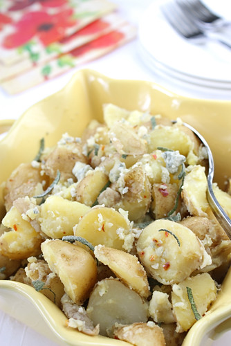 Potato Salad with Gorgonzola, Sage & Red Chile Recipe