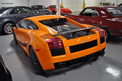 Orange You Glad -2- (Mac K Photography) Tags: light orange black car nikon track michigan garage stripe ken special collection sultan limited edition lamborghini weight v10 gallardo 2007 spoiler lambo reduction superleggera lingenfelter d5000