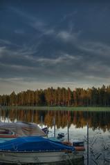 lake at dusk (Bobbytee) Tags: sweden dalarna hdr dalafloda tonemapped