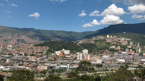 View of Medellin from atop Pueblito Paisa (a small, centrally located hill).