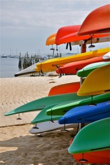 Kayaks (sfPhotocraft) Tags: usa color beach harbor sand provincetown capecod massachusetts cape ptown resorttown