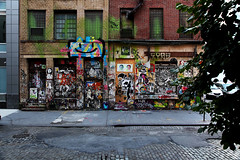 Candy Factory NYC (jamie nyc) Tags: nyc newyorkcity streetart graffiti stencil soho rednose db vandalism cern rollers shepardfairey aerosolart hellbent spraypainting jc2 loveme pochoir fumero vandalismo strassenkunst localsonly armyofone zast imminentdisaster outlawart kh1 billikid dogbyte gussa photobyjimkiernan cernesto asvp thaoriginalche dintwooerkrsna nytewalka pussymafia diktatr candyfactorynyc cobblestonesarekickass thetableseries waltwhiskersnotpussymafia kh1akakosherhowey