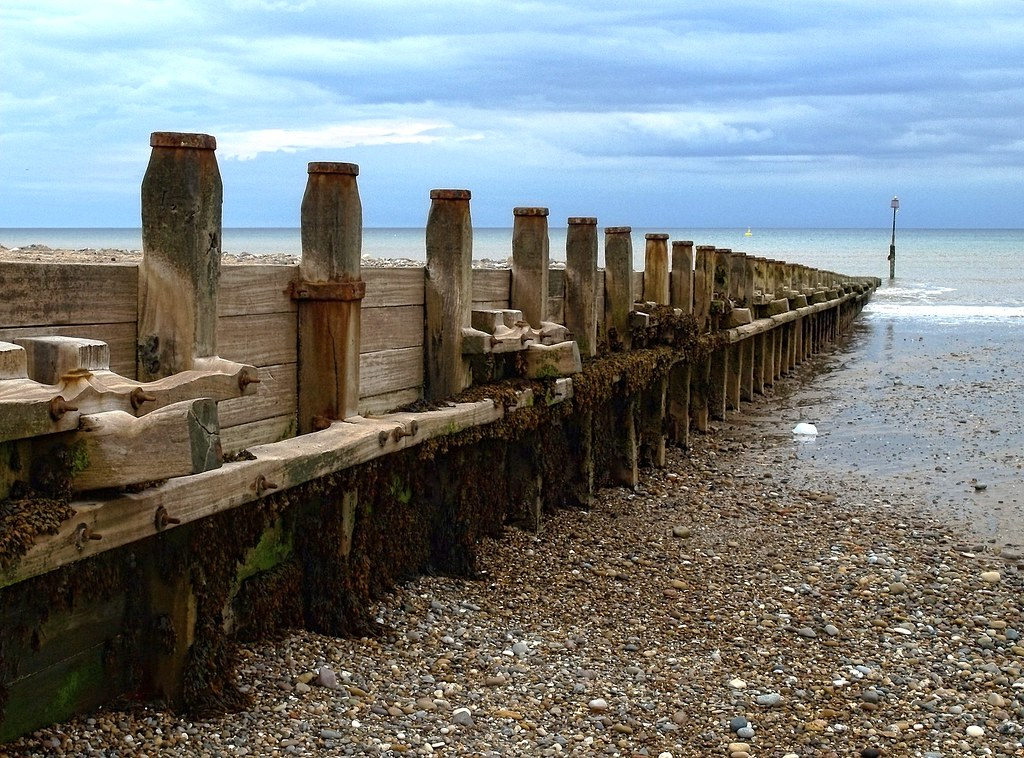 Sea defences (Groynes) on Hornsea