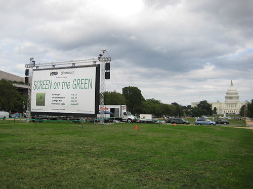 Screen on the Green - The Mall - August 2010