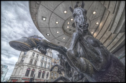 Horses in Picadilly Circus