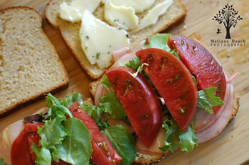 Cherokee Purple Tomato with Ham
