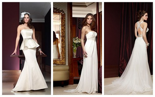 Models in Bridal Style Dresses by Caroline Castigliano
