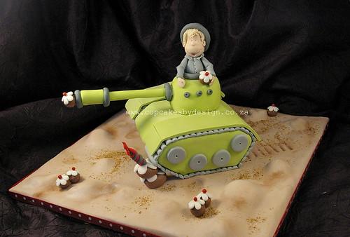 Alex's Army tank Cake