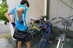 自転車を連結