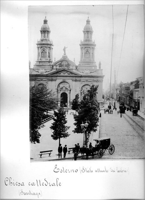 vista oriente de la Catedral de Santiago 1900