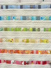 Baby quilt - for baby William (flossyblossy) Tags: boy baby rainbow quilt pebble quilting patchwork scrap
