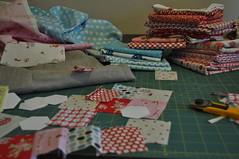 Inspiration has struck! (Lucy & Norman) Tags: pink blue red urban home linen secret goods swap peek patchwork partner sneak hexes