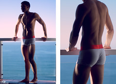 copacabana balcony (Fred Othero) Tags: ocean man hot sexy male men fashion sex naked nude underwear moda hunk front sensual copacabana pack fred abs homem sunga pelado n cueca masculino squarecut othero