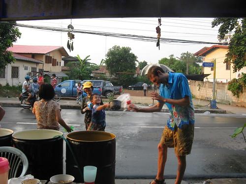 Songkran in Nongkhai.