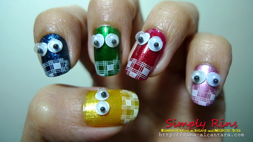 nail art - no place like home 02