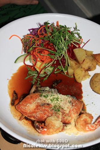 salmon and prawn